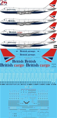 1:200 British Airways (Negus & Negus cs) Boeing 747-100 / -200B / -200F / 400