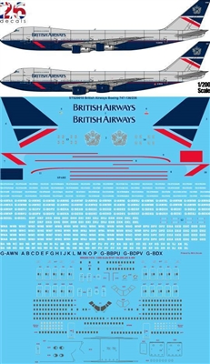 1:200 British Airways (Landor cs) Boeing 747-100 / -200B