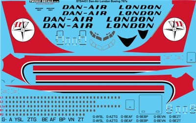 1:144 Dan Air London Boeing 707-320