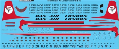 1:144 Dan Air London Dh.106 Comet 4B / 4C