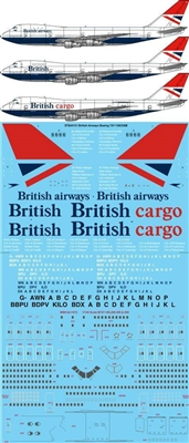1:144 British Airways Boeing 747-100 / -200B / -200F