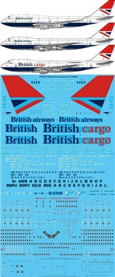 1:144 British Airways Boeing 747-100 / -200B / -200F / 400
