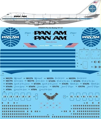 1:144 Pan Am (late) Boeing 747-100