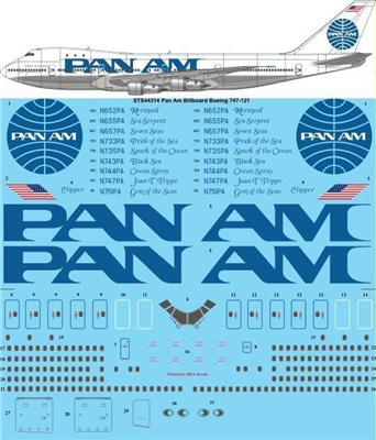 1:144 Pan Am 'Billboard' Boeing 747-100