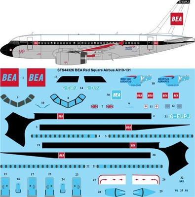 1:144 British European Airways Airbus A.319