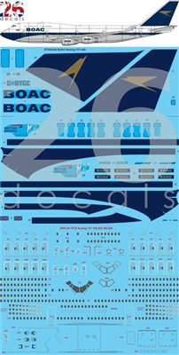 1:144 BOAC (British Airways 'retro') Boeing 747-436