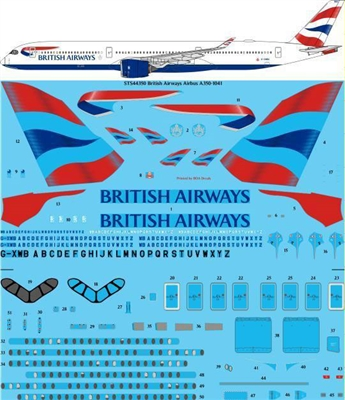 1:144 British Airways Airbus A.350-1000