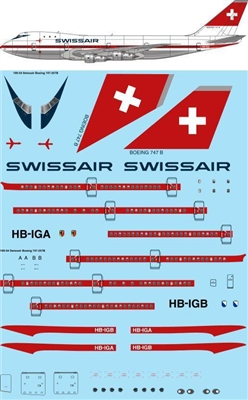 1:100 Swissair (delivery cs) Boeing 747-257B