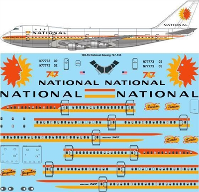 1:100 National Airlines Boeing 747-135