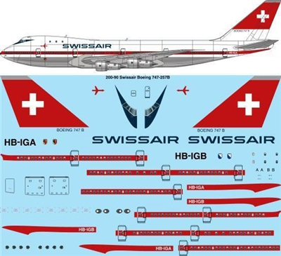 1:200 Swissair (delivery cs) Boeing 747-257B