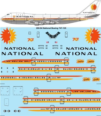 1:200 National Airlines Boeing 747-135