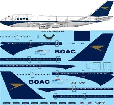 1:200 BOAC (British Airways 'retro') Boeing 747-436
