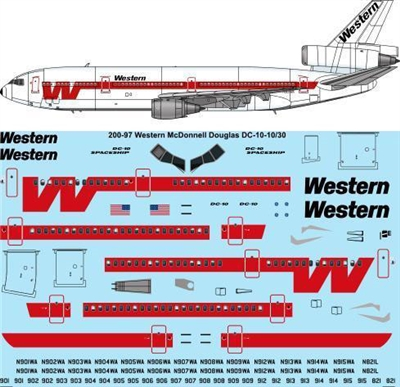 1:200 Western Airlines McDD DC-10-10 / -30
