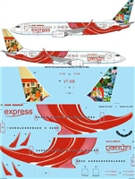 1:144 Air India Express Boeing 737-800 VT-AXI 'Rajput Painting'