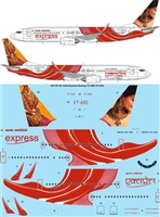 1:144 Air India Express Boeing 737-800 VT-AXG 'Indian Jewellery'