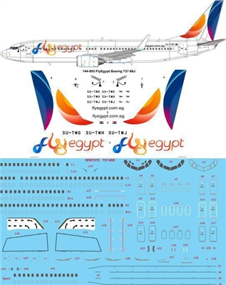1:144 Fly Egypt Boeing 737-800