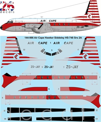 1:144 Air Cape HS.748 Series 2A
