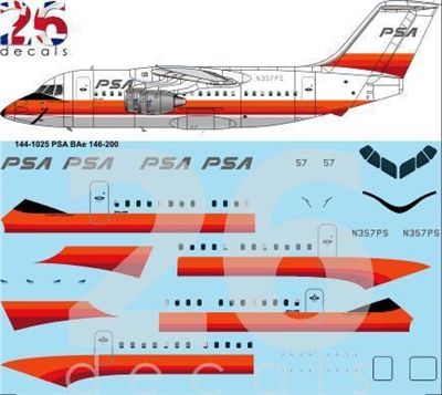 1:144 PSA Pacific Southwest Airlines Bae 146-200