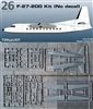 1:144 Fokker F.27-200 Friendship, No Decal