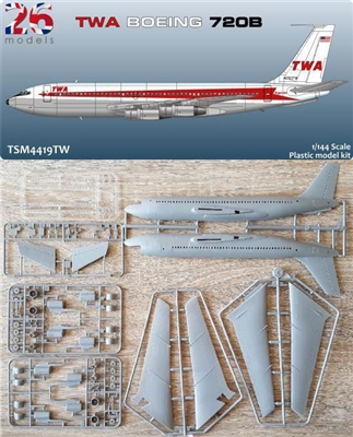 1:144 Boeing 720B, Trans World Airlines