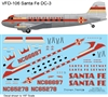 1:100 Santa Fe (later cs) Douglas DC-3