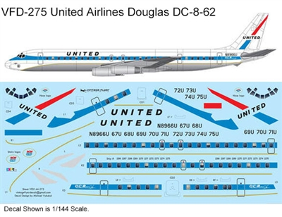 1:100 United Airlines (delivery cs) Douglas DC-8-62