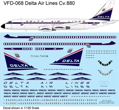 1:126 Delta Airlines (delivery cs) Convair 880