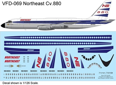 1:126 Northeast (delivery cs) Convair 880