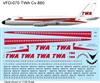 1:126 TWA (delivery cs) Convair 880