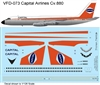 1:126 Capital Airlines Convair 880