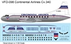 1:126 Continental Airlines Convair 340
