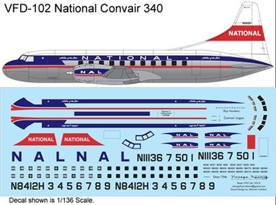 1:126 National Airlines Convair 340