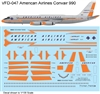 1:135 American Airlines (delivery cs) Convair 990