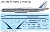 1:135 Air France Convair 990