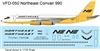 1:135 Northeast ('Yellowbird' cs) Convair 990