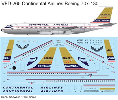1:139 Continental Airlines Boeing 707-124