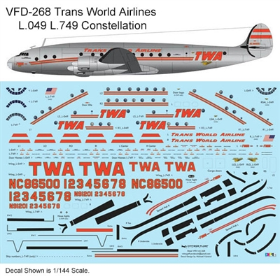 1:140 Trans World Airlines L.049 / L.749 Constellation (delivery cs)