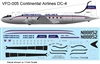 1:144 Continental Airlines Douglas DC-4