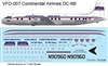 1:144 Continental Airlines Douglas DC-6B