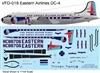 1:144 Eastern Airlines 'Great Silver Fleet' Douglas DC-4