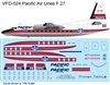 1:144 Pacific Airlines (1959 cs) Fokker F.27