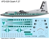 1:144 Ozark Airlines (delivery cs) Fokker F.27