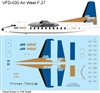 1:144 AirWest (blue/gold cs) Fokker F.27