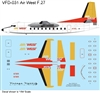 1:144 AirWest (gold/red cs) Fokker F.27