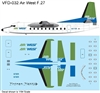 1:144 AirWest (green/blue cs) Fokker F.27