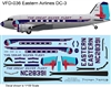 1:144 Eastern Airlines (early cs) Douglas DC-3