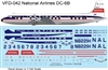1:144 National Airlines (1958 cs) Douglas DC-6B