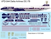 1:144 Delta Airlines (golden crown cs) Douglas DC-7