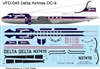 1:144 Delta Airlines (final cs) Douglas DC-4