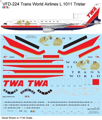 1:144 Trans World Airlines (final cs) Lockheed L.1011 Tristar